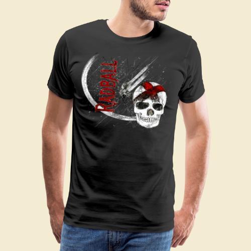 Radball | Cycle Ball Skull - Männer Premium T-Shirt