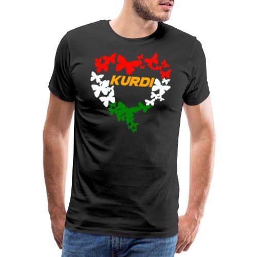 Kurdistan Kurdisch Flagge Schmetterling Kurdi - Männer Premium T-Shirt