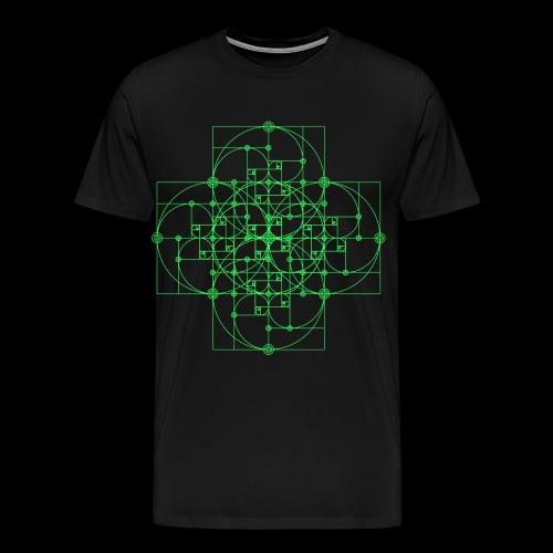 Golden Super Spiral Green - Men's Premium T-Shirt