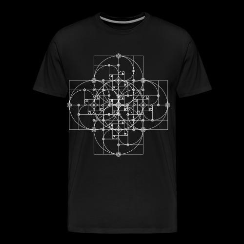 Golden Super Spiral White - Men's Premium T-Shirt