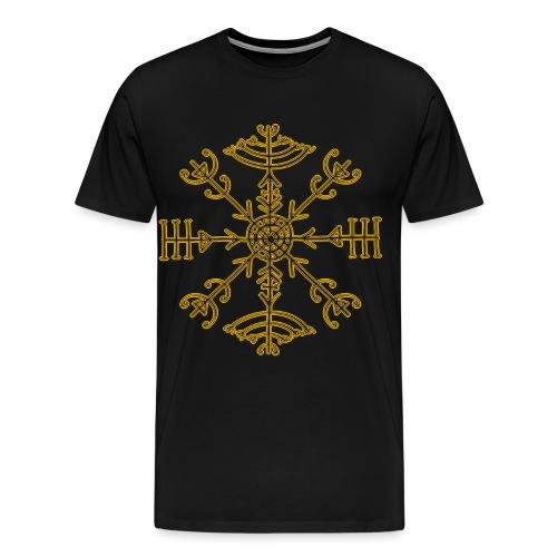 Veldismagn Icelandic Norse Germanic Gold - Men's Premium T-Shirt