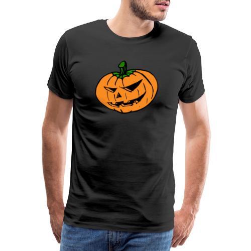 Halloween Kürbis - Männer Premium T-Shirt