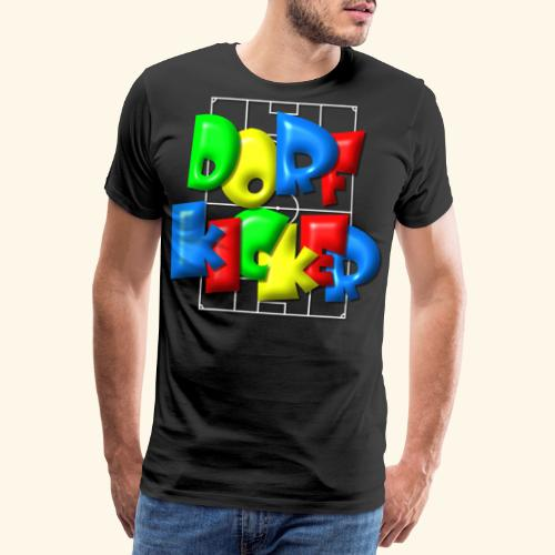 Dorfkicker im Fußballfeld - Balloon-Style - Männer Premium T-Shirt