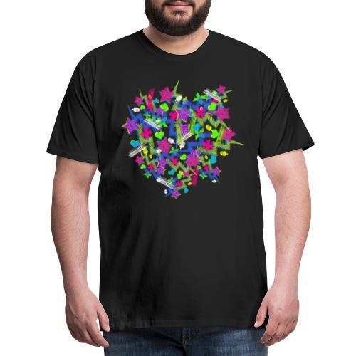 Pattern Neonsterne - Männer Premium T-Shirt