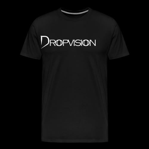 Dropvision Logo Vit - Premium-T-shirt herr