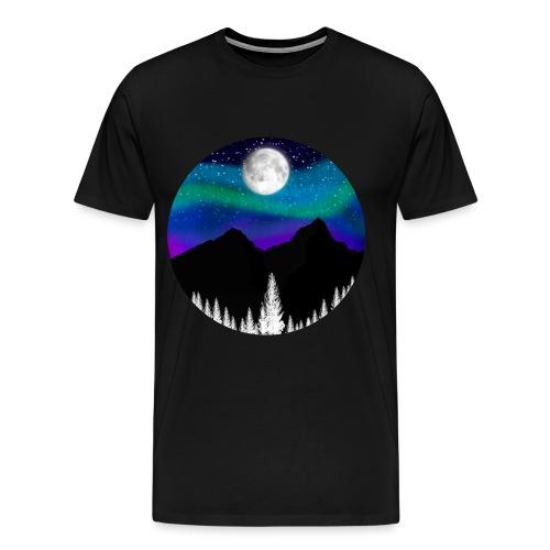 paisaje nocturno - Camiseta premium hombre