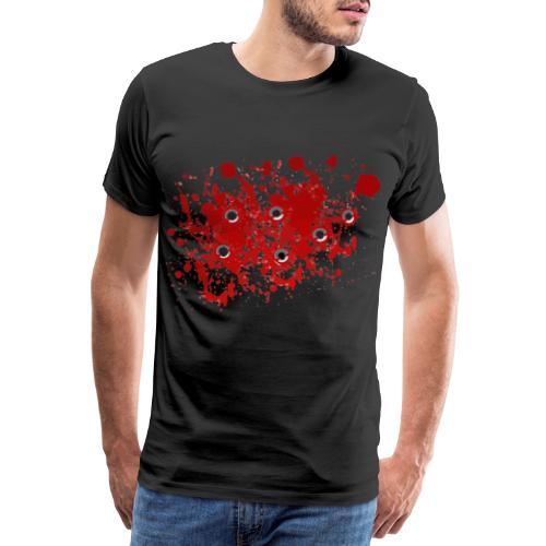 Bullet holes Einschusslöcher Blutspritzer Kostüm - Männer Premium T-Shirt