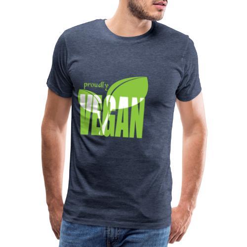proudly vegan - Männer Premium T-Shirt