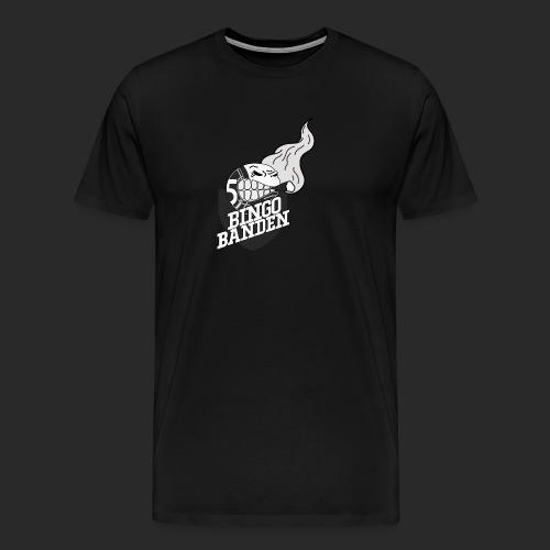 SvartHvit Logo - Premium T-skjorte for menn