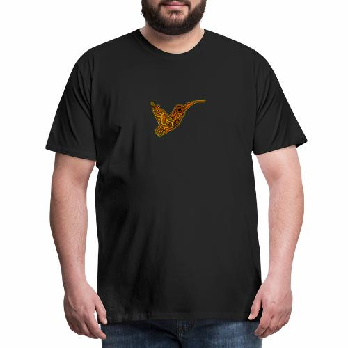 Colibri tête de mort rouge - T-shirt Premium Homme