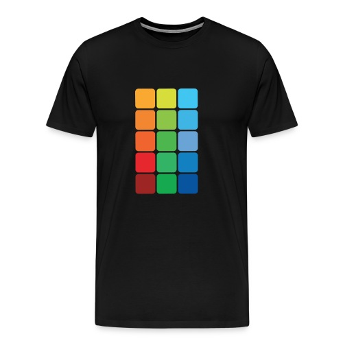 Square color - Men's Premium T-Shirt