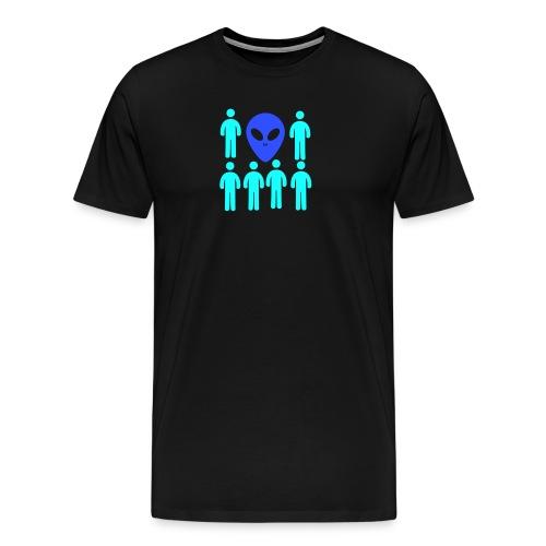 Extraterestre y Humano - Camiseta premium hombre