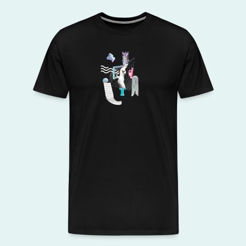 Virtual plaza - Herre premium T-shirt