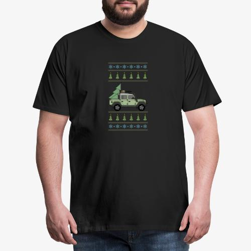 Defender Offroad Pickup - Christmas Tree - Premium-T-shirt herr