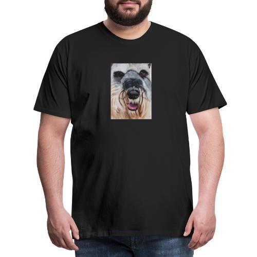schnauzer - Herre premium T-shirt