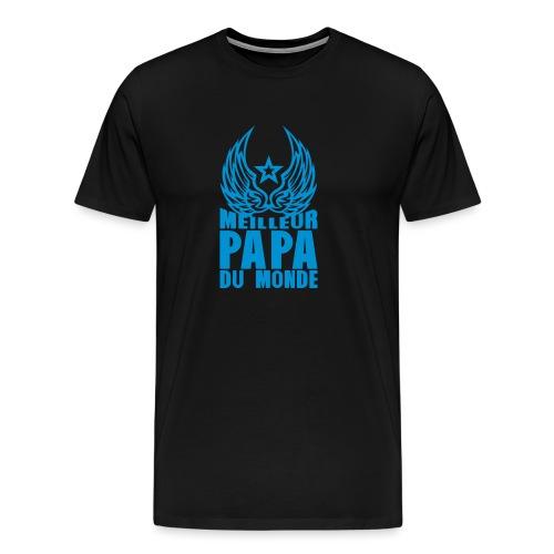 meilleur papa du monde aile etoile logo - T-shirt Premium Homme