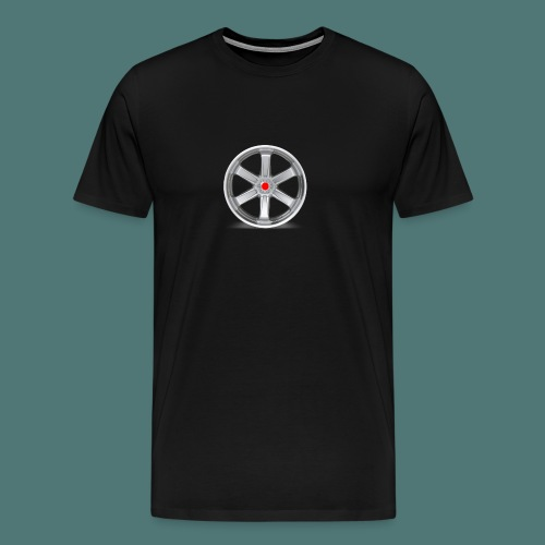 Fälg Silver - Premium-T-shirt herr