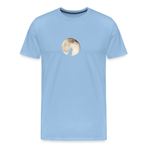 The wolf with the moon - T-shirt Premium Homme