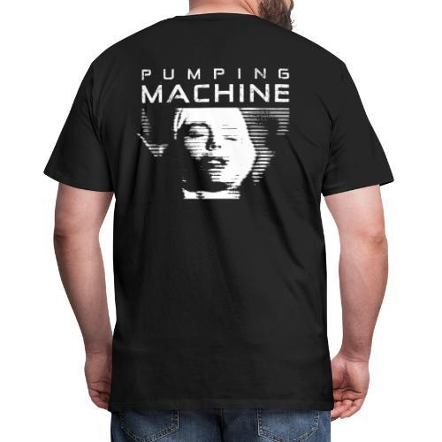 Negant logo + Pumping Machine - Herre premium T-shirt