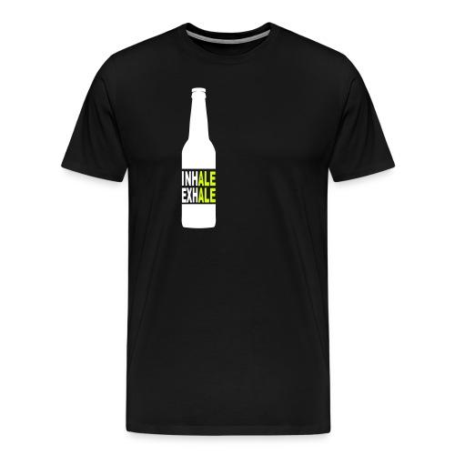 Inhale Exhale Craft Beer T Shirt - Men's Premium T-Shirt