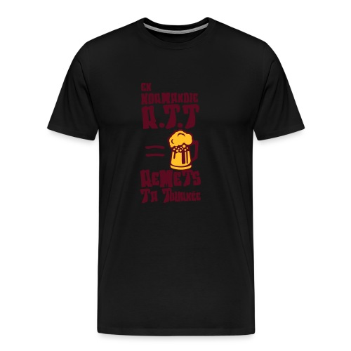 normandie rtt remet tournee biere alcool - T-shirt Premium Homme