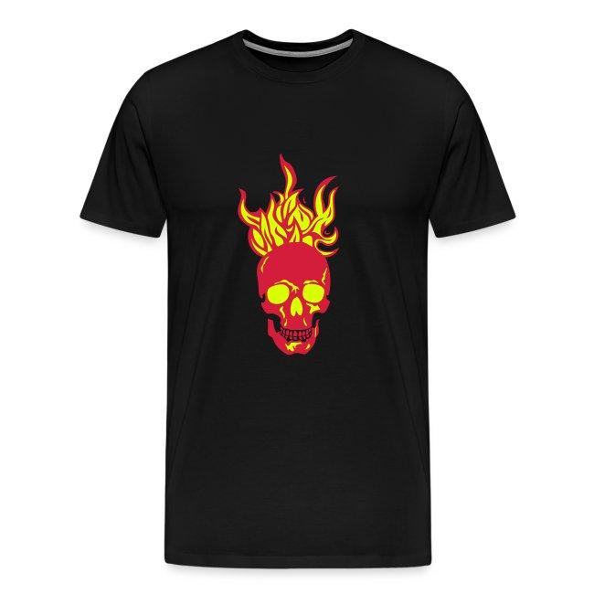 skull tete mort flamme fire dead head fe