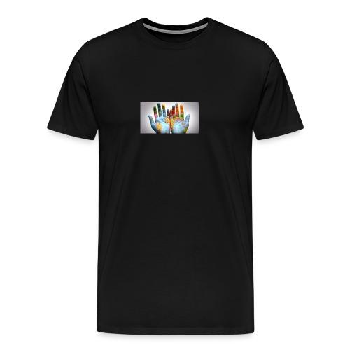 Hands of the world - Premium-T-shirt herr