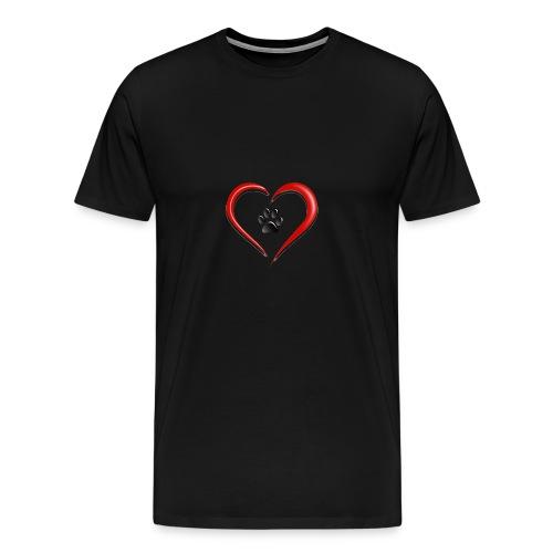 Shirt Herz auf vier Beinen - Männer Premium T-Shirt