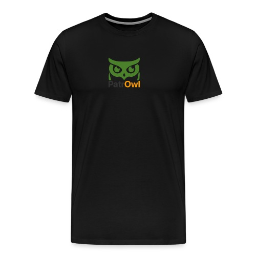 logo owl text large - T-shirt Premium Homme