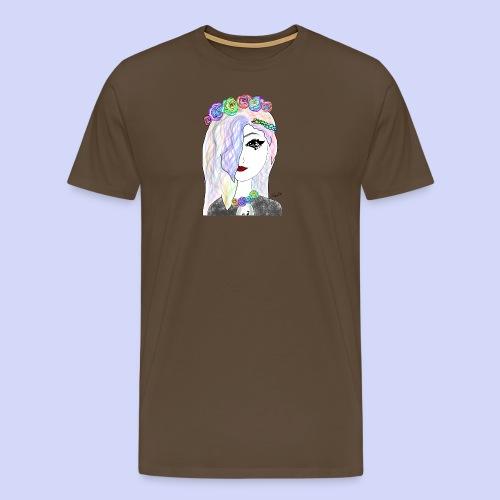 Rainbow flower girl - Female shirt - Herre premium T-shirt