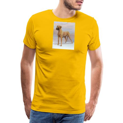 Great Dane Yellow - Herre premium T-shirt