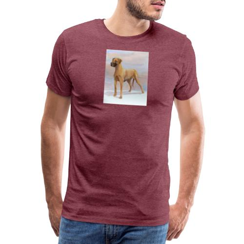 Great Dane Yellow - Herre premium T-shirt