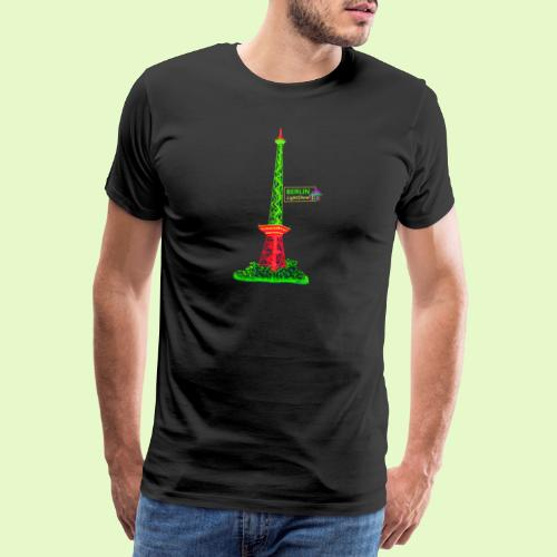 Funkturm / BerlinLightShow / PopArt Style - Männer Premium T-Shirt