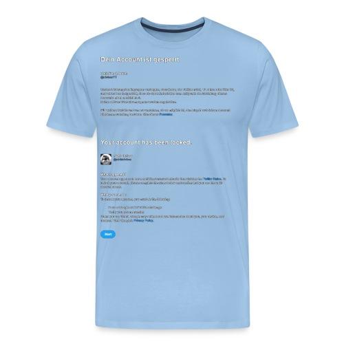 twitter lock - Men's Premium T-Shirt