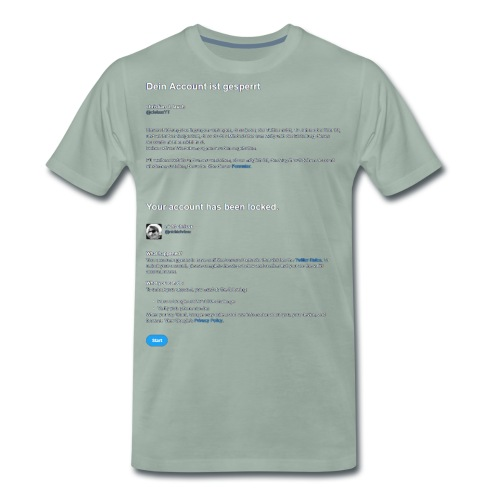 twitter lock - Men's Premium T-Shirt