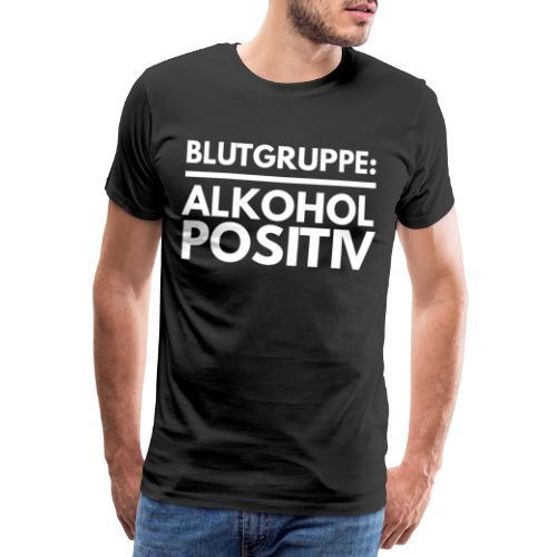 Blutgruppe Alkohol Spruch Tshirt Geschenk - Männer Premium T-Shirt
