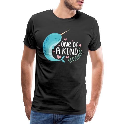 Narwal One Of A Kind Einhorn der Meere Geschenk - Männer Premium T-Shirt