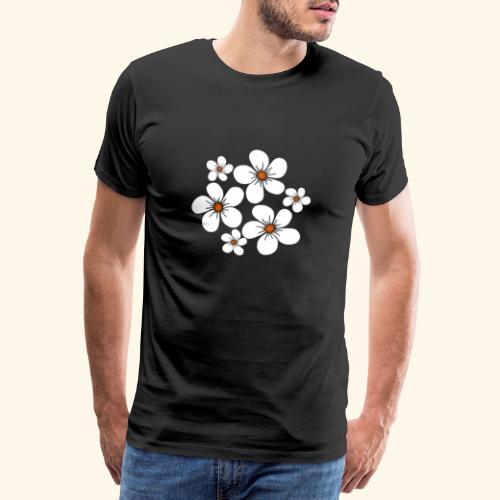 blühende weiße Blüten, Blumen, Blumenstrauß floral - Männer Premium T-Shirt