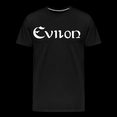 evilonlogga vit - Premium-T-shirt herr