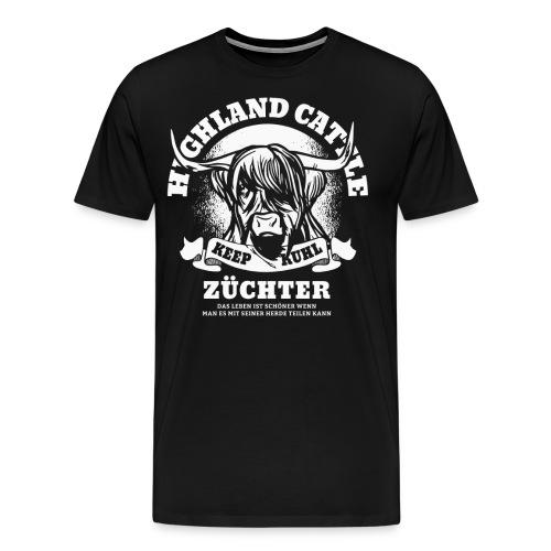 Kuh Kühe Rind Bauer Landwirt Silhouette Geschenk - Männer Premium T-Shirt