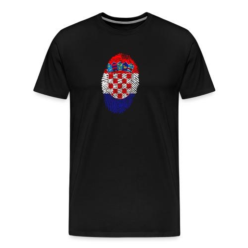 T-shirt imprimé drapeau Croatie - T-shirt Premium Homme