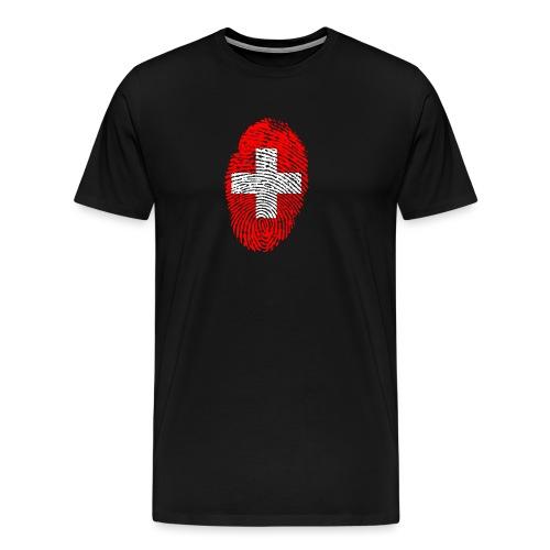 T-shirt imprimé drapeau suisse - T-shirt Premium Homme