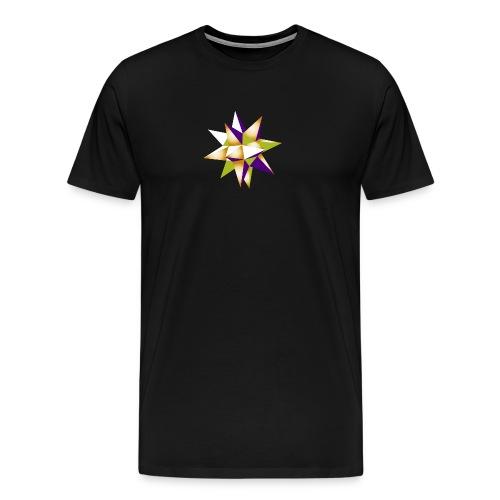 3-D-Stern Weihnachten Origami Geometrie Hipster - Men's Premium T-Shirt