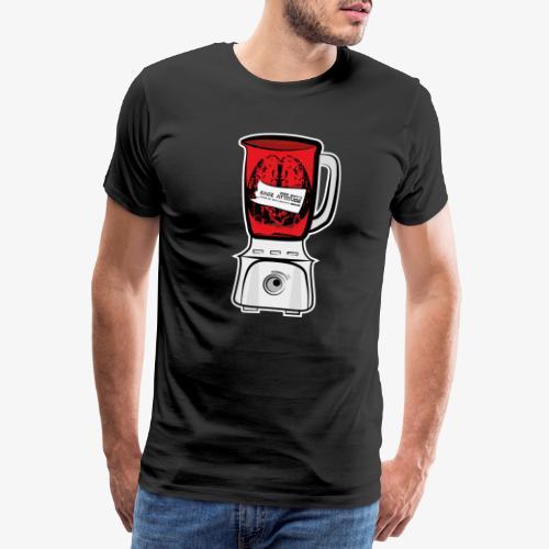 Hirn im Mixer - neon rot - Männer Premium T-Shirt