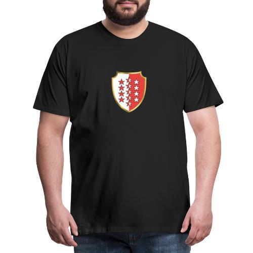 Valais Wallis Gold Or - Männer Premium T-Shirt
