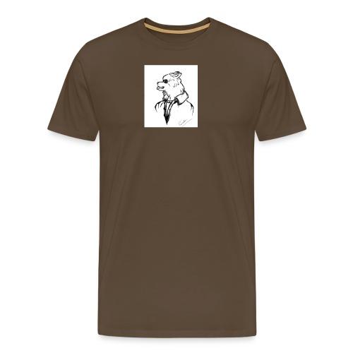 InkedThe Dog style bak LI - Camiseta premium hombre