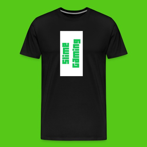 white phone logo jpg - Men's Premium T-Shirt