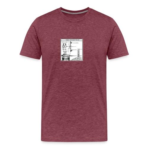 W.O.T War tactic, tank shot - Men's Premium T-Shirt