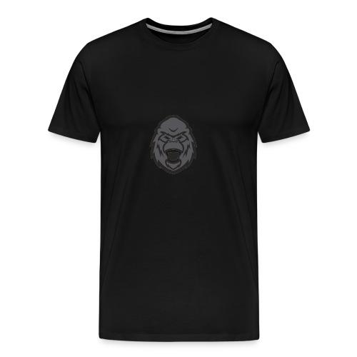 B3ast Head Logo - Premium T-skjorte for menn