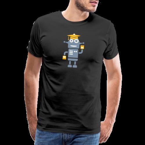 Roboter mit Doktorhut Geschenk zur Promotion - Männer Premium T-Shirt